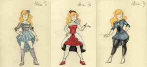 Mad T Alice Alternative Outfits by freelance-kitty