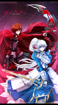 Fate/Stay Night x RWBY : White Saber/Red Archer by dishwasher1910