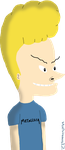 Lineless Beavis by Michivous12