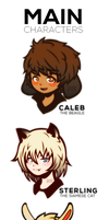 Pet Sim Otome Game Characters by Tanaie