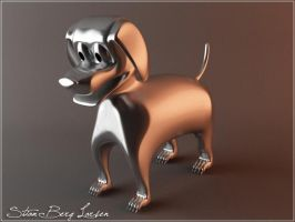 Silver dog by Stianbl