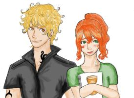 Jace and Clary by Tetra-Zelda