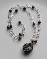 Red Nebula Necklace by Athalour