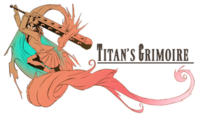 Titan's grimoire logo by Icymasamune