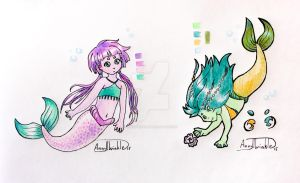 Little Mermaids (Auction Closed) by AnnyTwinkle
