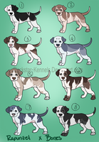 Bones x Rapunzel Litter Closed by WinchesterCrossroads