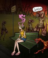 Silent Hill 3 Numb Body on Heather's Head by spacelion88