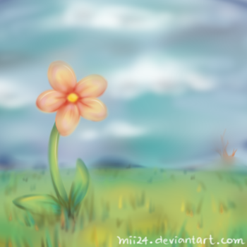 Lonely Flower by mii24