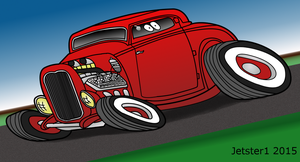 1932 Ford 3 window coupe hot rod toon by Jetster1