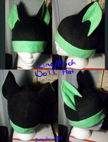 Fleece Hat: Lime/Black Wolf by PurgatorianHeir