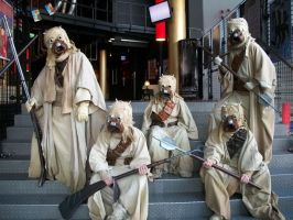 Tusken Raiders by Qymaen