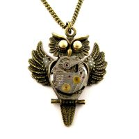 Steampunk owl pendant by SteamSect