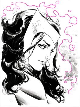 Scarlet Witch Pre-Con commission for SDCC 2014 by aethibert
