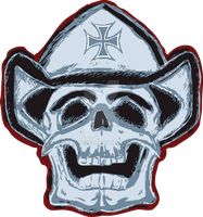 Cowboy Skull Hat by StaticRed