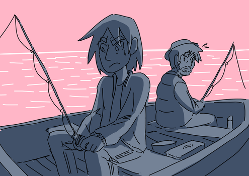 Father-son fishing trip by RK-d