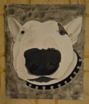 bull terrier acrylique by diego176