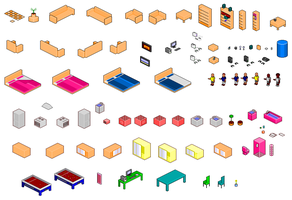 A selection of pixel art asset by TRBlue