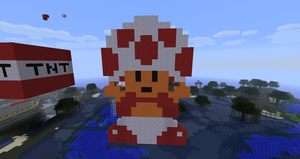 Toad in Minecraft by branduboga