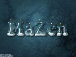 Snowing Typography by MaZen-Almazni