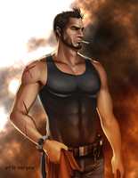 Commission: Dan Guerra by moirgane