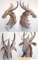 Cyrus Dragon Sculpture Painted by ebonyraven