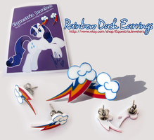 Rainbow Dash Earrings by sterlingsilver
