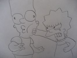 I hate you Bart!!! by FutureSimpsonsTwist