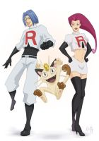 Team Rocket trio by E04