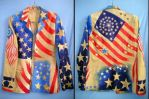 Star spangled banner USA flag jacket - my design by SOFIAMETALQUEEN