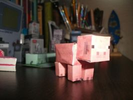 mincraft pig by everton1120