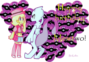 Happy late Birthday Mewtwo by Kell0x