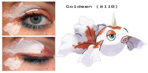 Pokemakeup 118 Goldeen by nazzara
