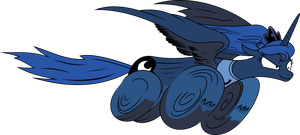 Luna from MLP Comic 9 with proper body and tail by imageconstructor