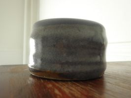 Blue pottery wheel pot by F0ggi
