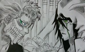 Grimmjow and Ulquiorra by gabito852