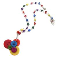 Rainbow Button Necklace by fairy-cakes
