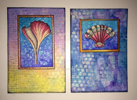 Mixed media index cards - 5 June 2017 by Artwyrd