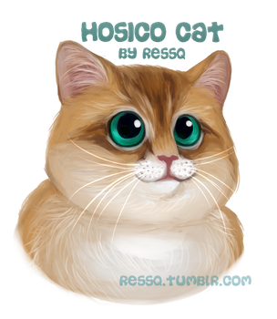 Hosico Cat Digital Portrait by RessQ