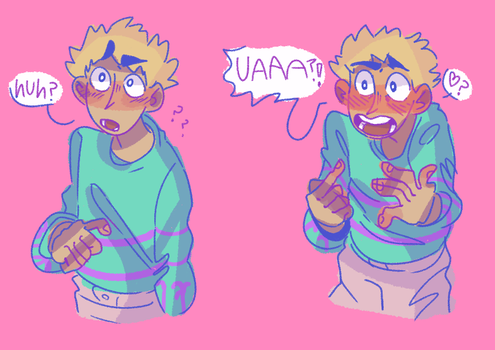I love drawing Teru with thick eyebrows by iLee-Font