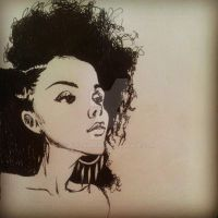 Afro Girl by Alysaurous
