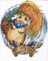 Goron Circle Coloured by Hollyberrystudio