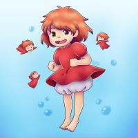 Ponyo by leanzaofearth