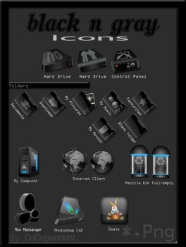 Black n Gray Icons by codependent