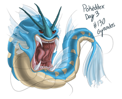 Day 3 - #130 Gyarados by CheezieSpaz