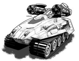 Skanda Light Tank by StephenHuda
