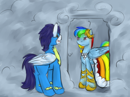 Ranbow Dash and Soarin by vila1