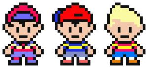 Mother Main Character Sprites by Tsuchi-Ookami-Kun