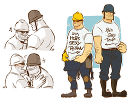Couple T-shirts by diceberg7