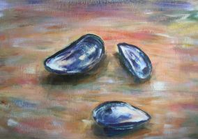 Mussel Shells by Theophilia