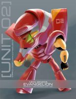 Deformed-unit 02 Evangelion by michan